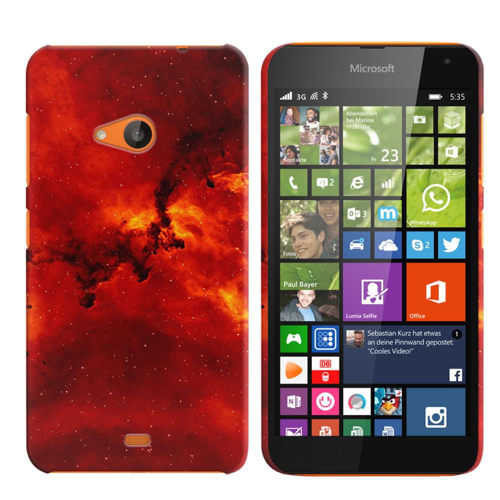 Microsoft Nokia Lumia 535 Fiery Galaxy Back Cover Case