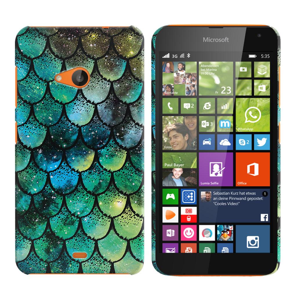 Microsoft Nokia Lumia 535 Green Mermaid Scales Back Cover Case