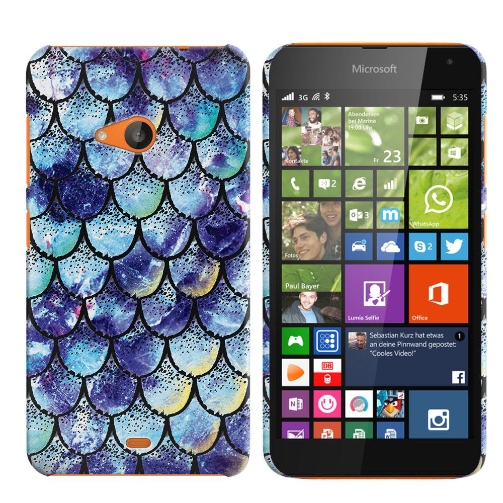Microsoft Nokia Lumia 535 Purple Mermaid Scales Back Cover Case
