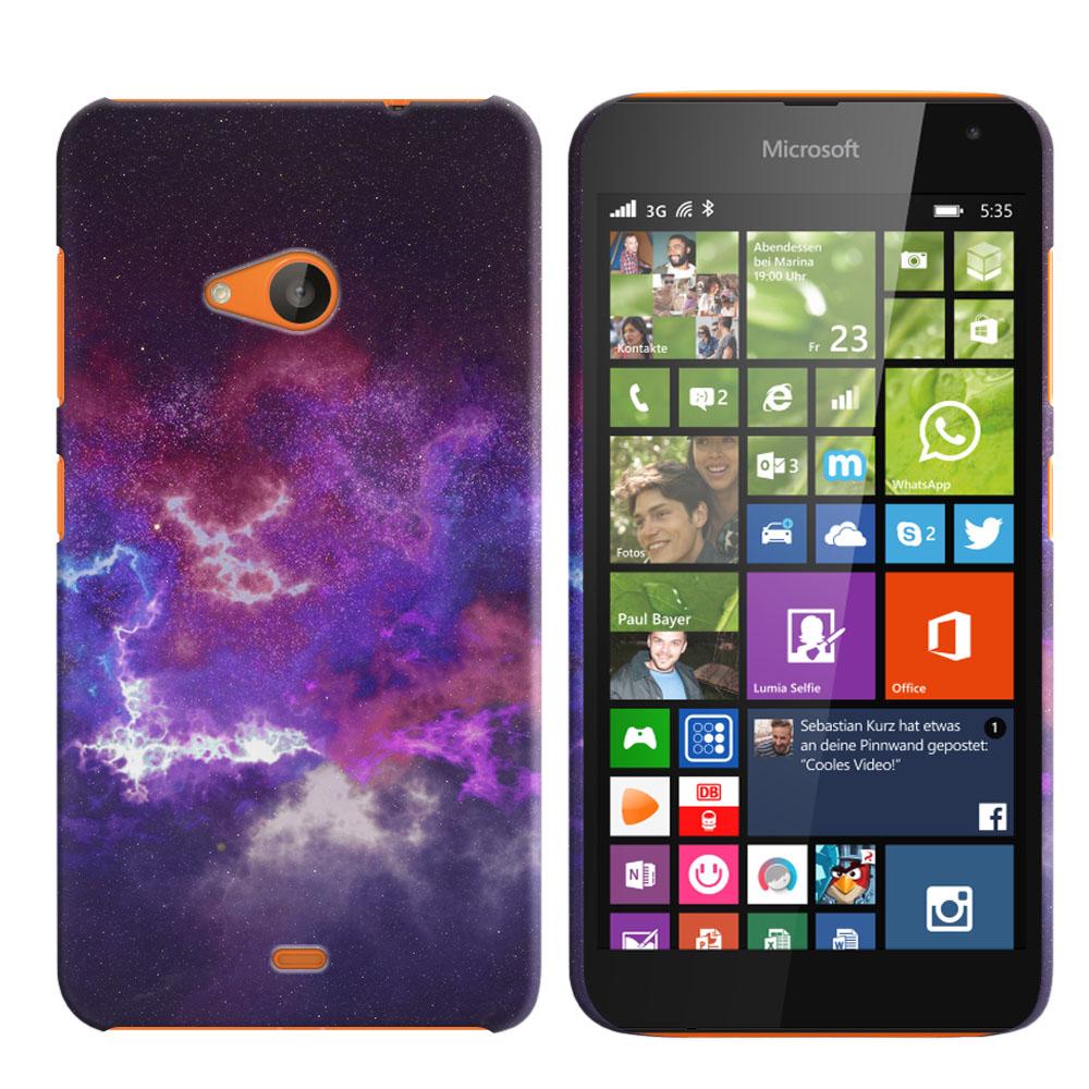 Microsoft Nokia Lumia 535 Purple Nebula Space Back Cover Case