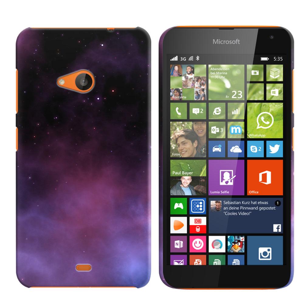 Microsoft Nokia Lumia 535 Purple Space Stars Back Cover Case