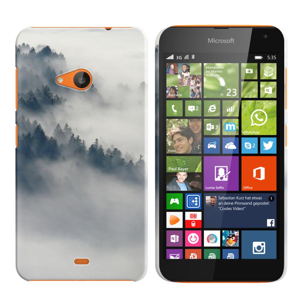 Microsoft Nokia Lumia 535 Winter Trees Back Cover Case