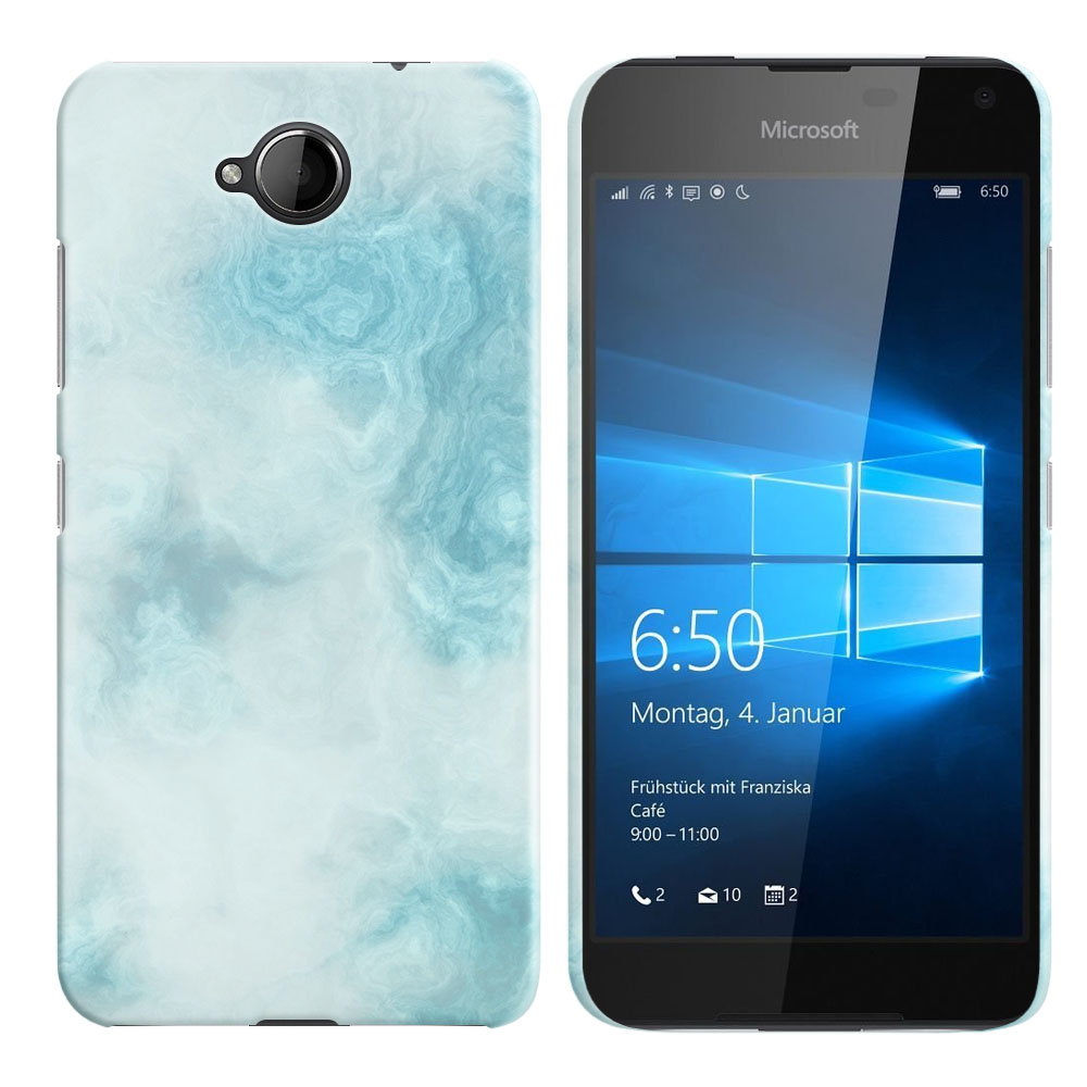 Microsoft Nokia Lumia 650 Blue Cloudy Marble Back Cover Case