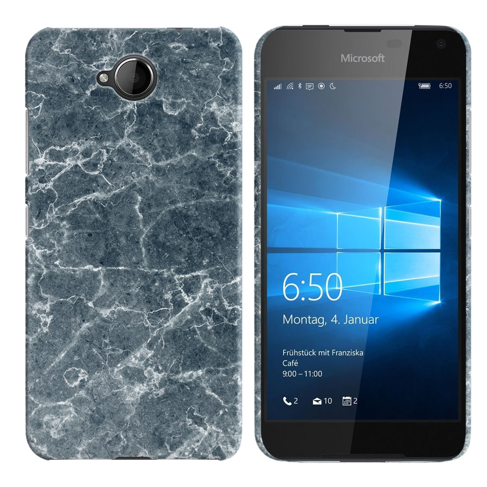 Microsoft Nokia Lumia 650 Blue Stone Marble Back Cover Case