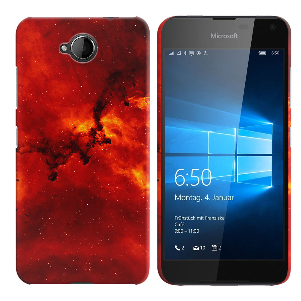 Microsoft Nokia Lumia 650 Fiery Galaxy Back Cover Case