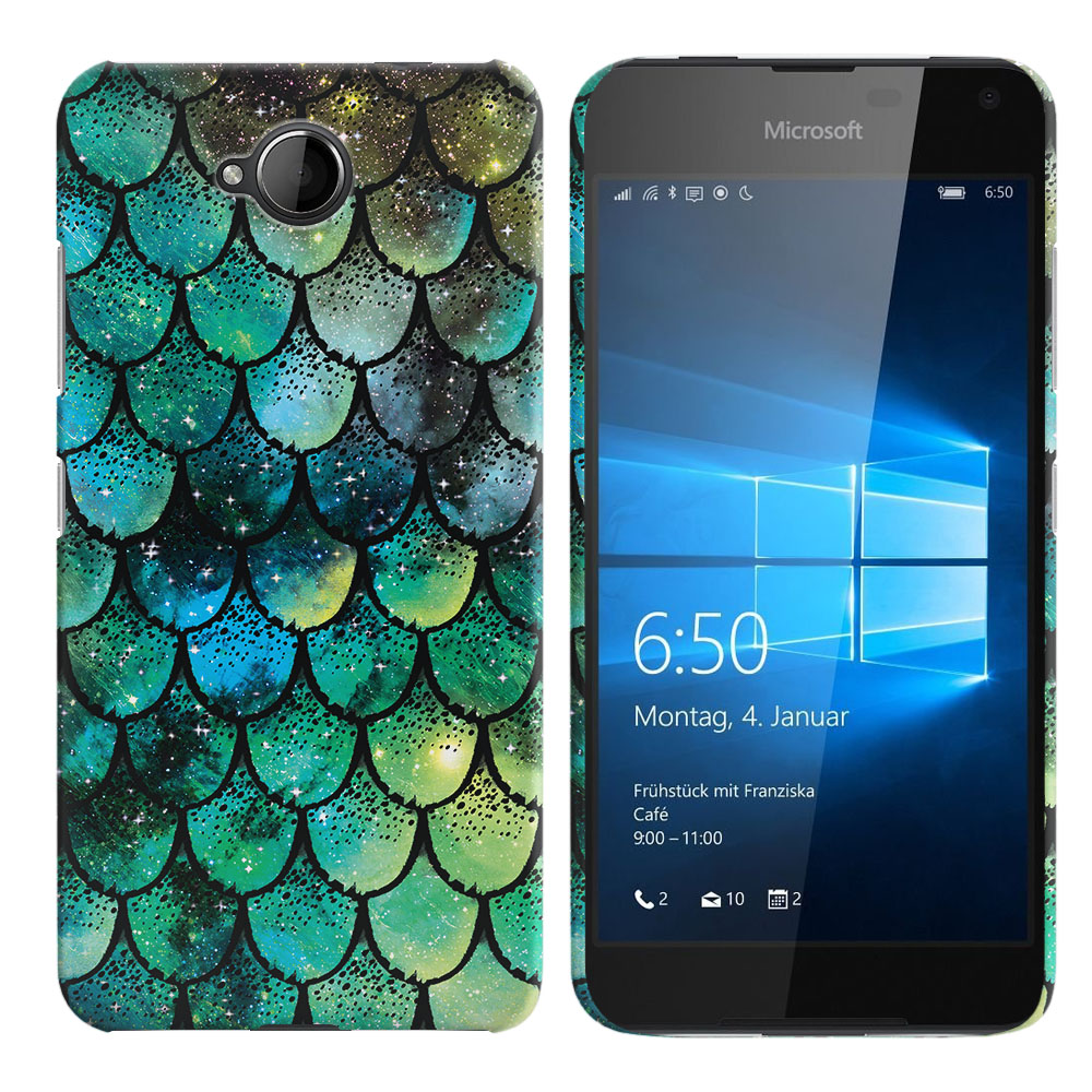 Microsoft Nokia Lumia 650 Green Mermaid Scales Back Cover Case