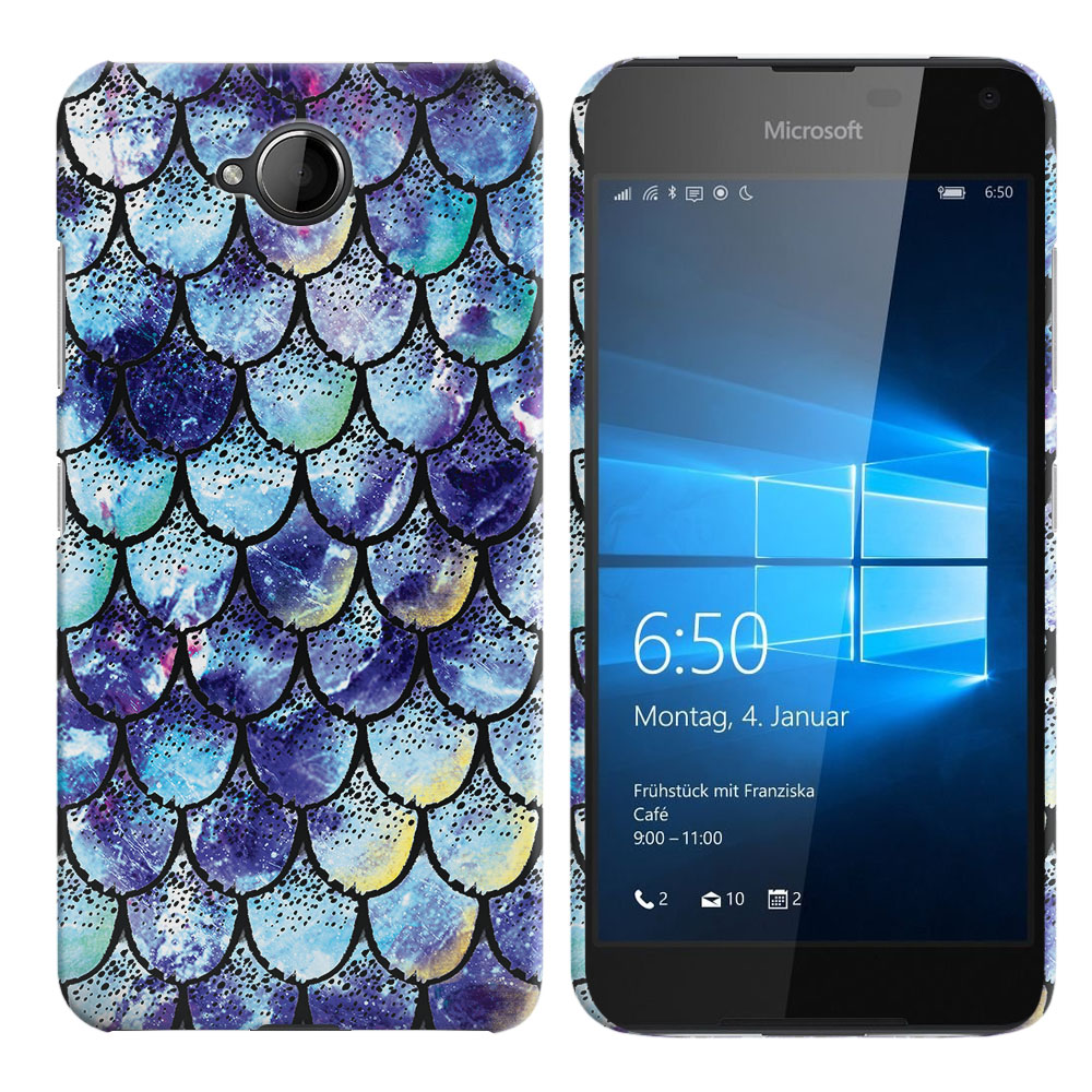 Microsoft Nokia Lumia 650 Purple Mermaid Scales Back Cover Case
