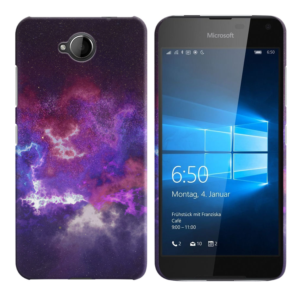 Microsoft Nokia Lumia 650 Purple Nebula Space Back Cover Case