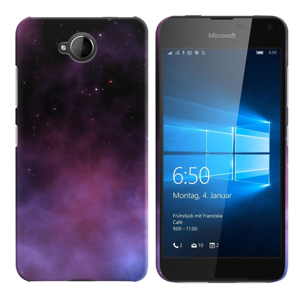 Microsoft Nokia Lumia 650 Purple Space Stars Back Cover Case