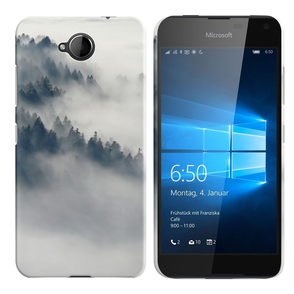 Microsoft Nokia Lumia 650 Winter Trees Back Cover Case