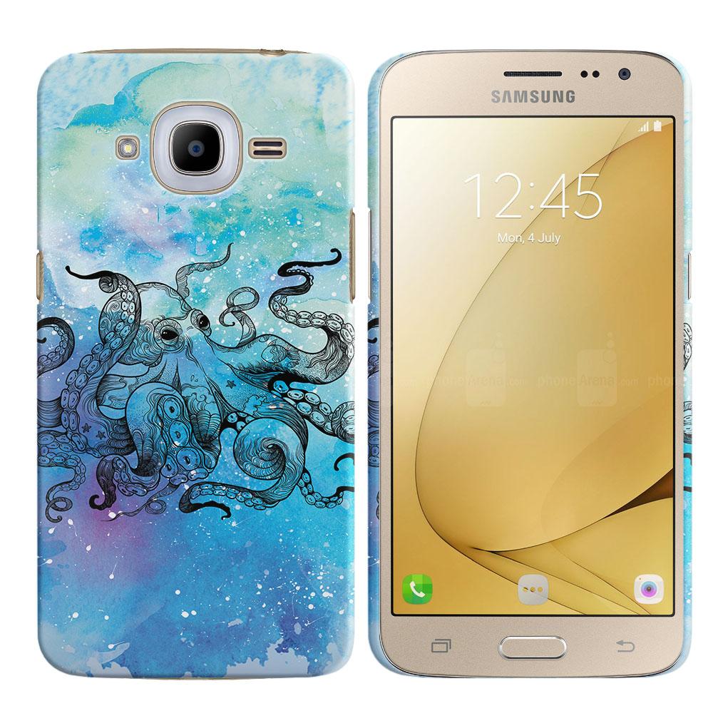 Samsung Galaxy J2 2016 J210 2nd Gen Blue Water Octopus Back Cover Case