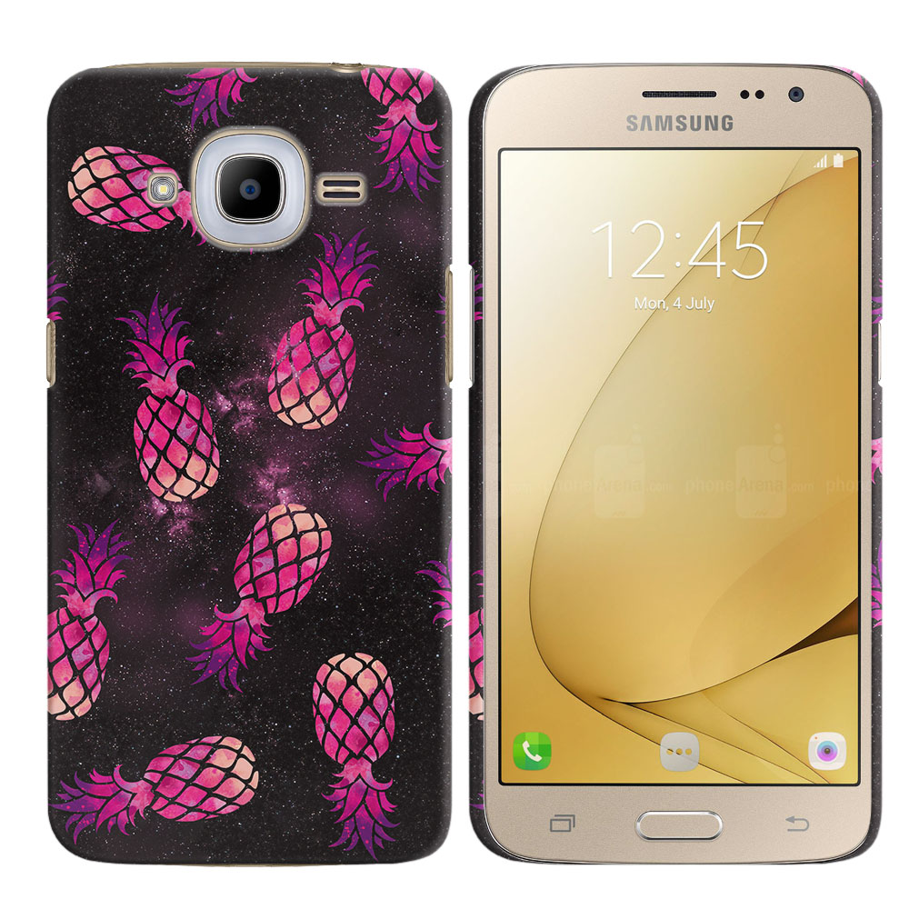 Samsung Galaxy J2 2016 J210 2nd Gen Hot Pink Pineapple Pattern In Galaxy Back Cover Case