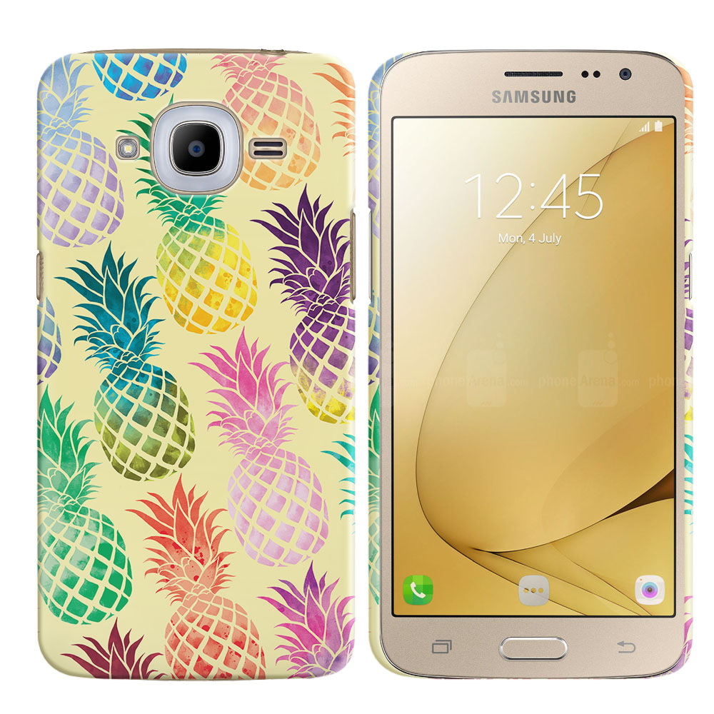 Samsung Galaxy J2 2016 J210 2nd Gen Pastel Colorful Pineapple Yellow Pastel Back Cover Case