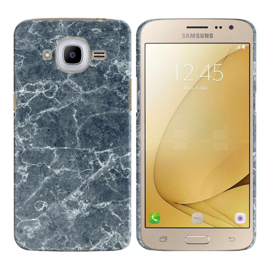 Samsung Galaxy J2 2016 J210 2nd Gen Blue Stone Marble Back Cover Case