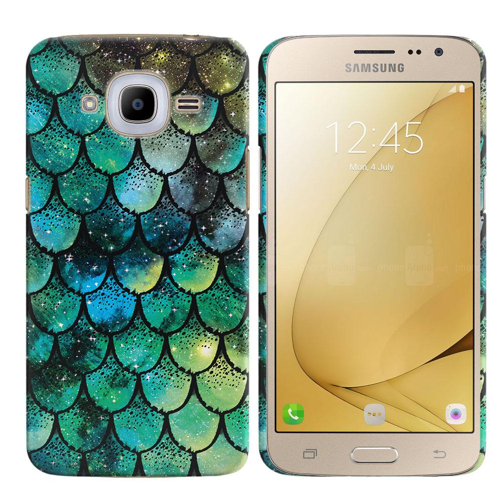 Samsung Galaxy J2 2016 J210 2nd Gen Green Mermaid Scales Back Cover Case