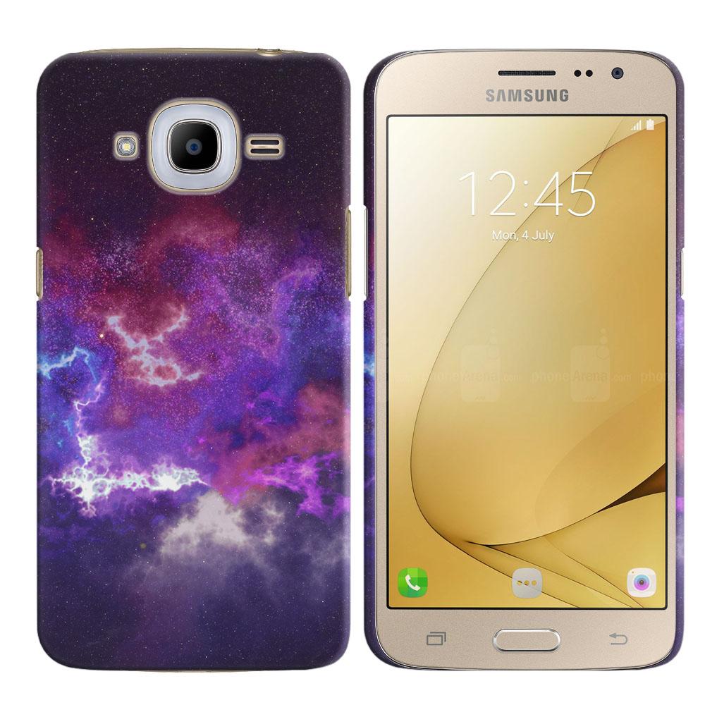 Samsung Galaxy J2 2016 J210 2nd Gen Purple Nebula Space Back Cover Case