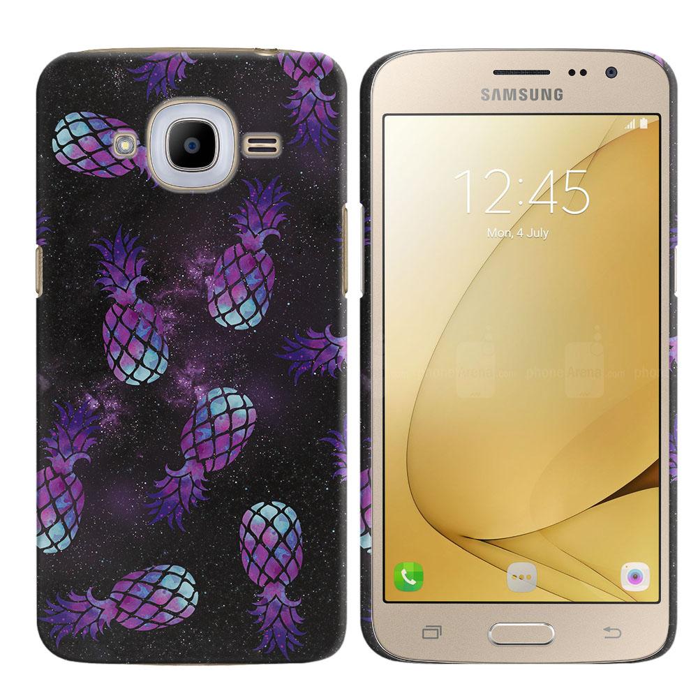 Samsung Galaxy J2 2016 J210 2nd Gen Purple Pineapples Galaxy Back Cover Case
