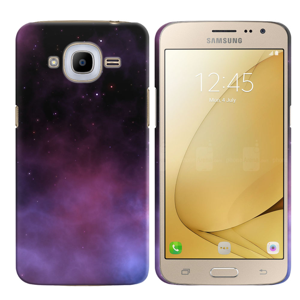 Samsung Galaxy J2 2016 J210 2nd Gen Purple Space Stars Back Cover Case