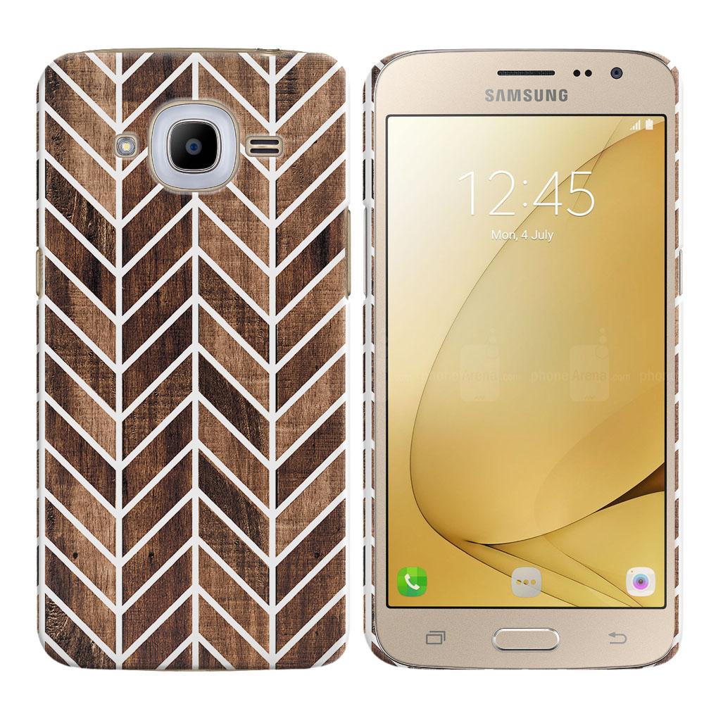 Samsung Galaxy J2 2016 J210 2nd Gen Wood Chevron Back Cover Case