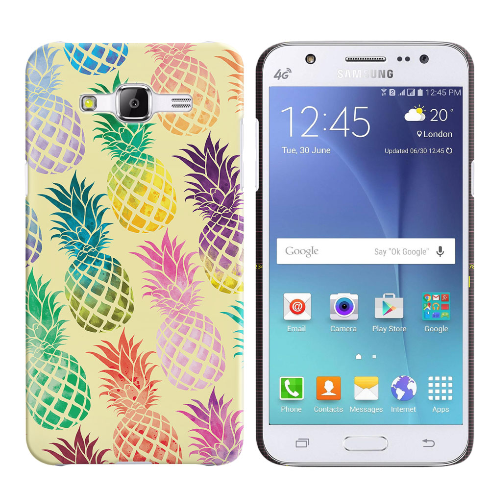 Samsung Galaxy J5 J500 Pastel Colorful Pineapple Yellow Pastel Back Cover Case