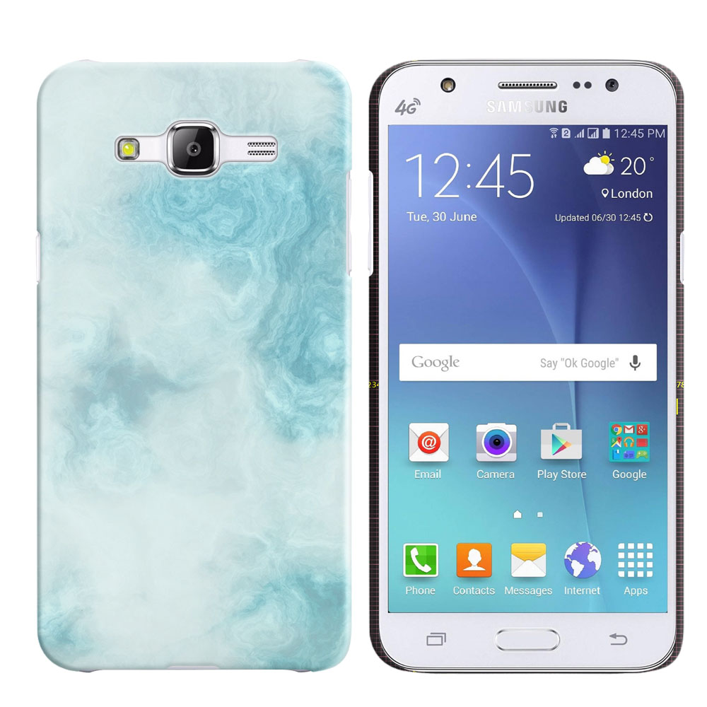 Samsung Galaxy J5 J500 Blue Cloudy Marble Back Cover Case