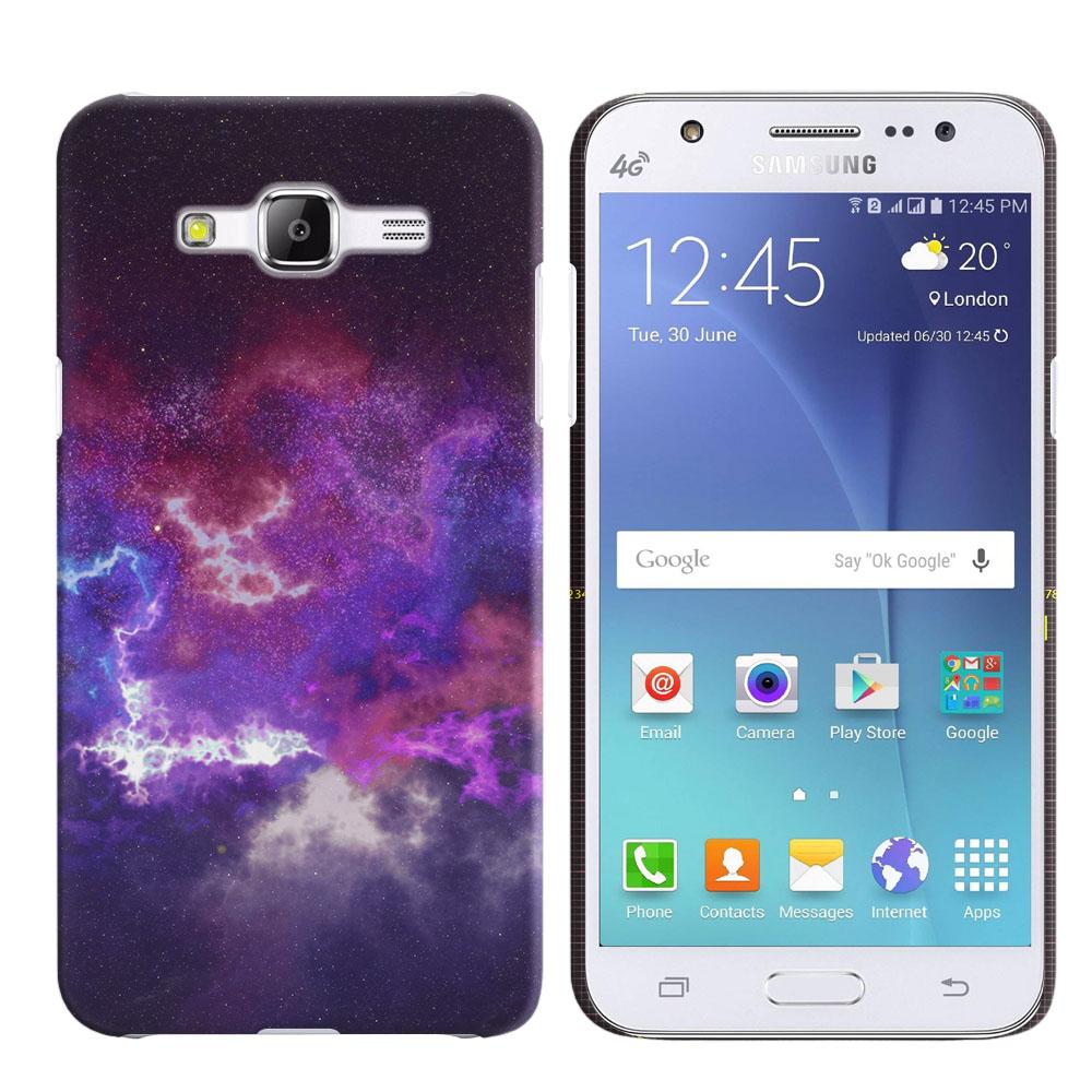 Samsung Galaxy J5 J500 Purple Nebula Space Back Cover Case