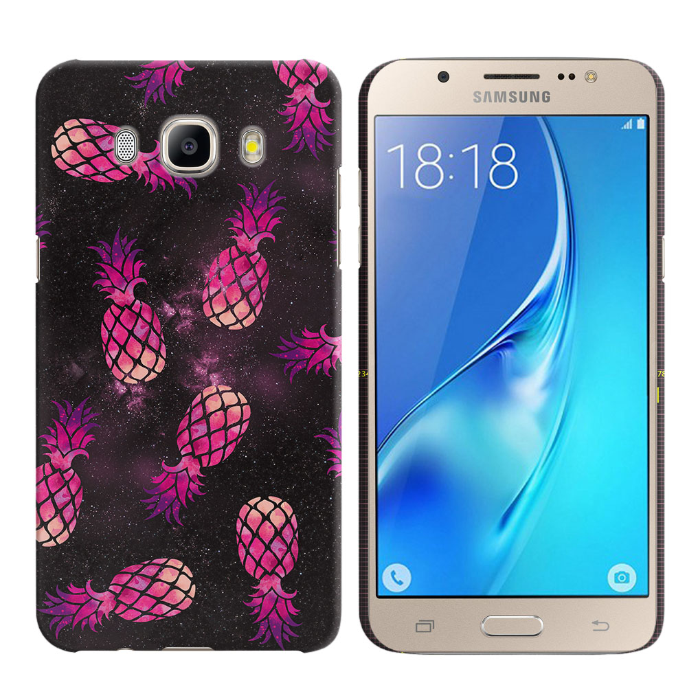 Samsung Galaxy J5 J510 2nd Gen 2016 Hot Pink Pineapple Pattern In Galaxy Back Cover Case