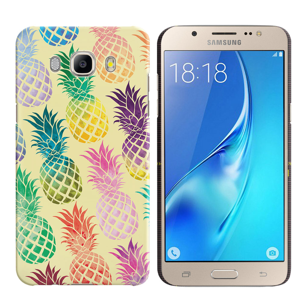 Samsung Galaxy J5 J510 2nd Gen 2016 Pastel Colorful Pineapple Yellow Pastel Back Cover Case