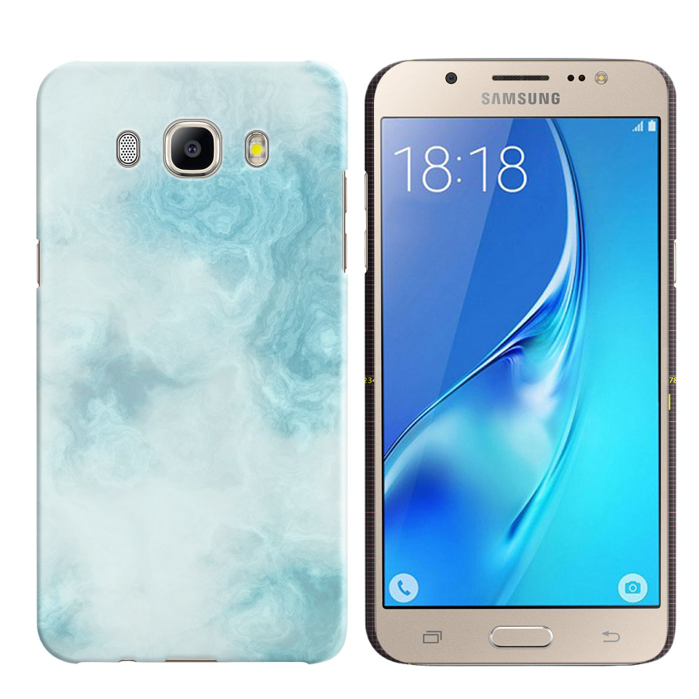 Samsung Galaxy J5 J510 2nd Gen 2016 Blue Cloudy Marble Back Cover Case