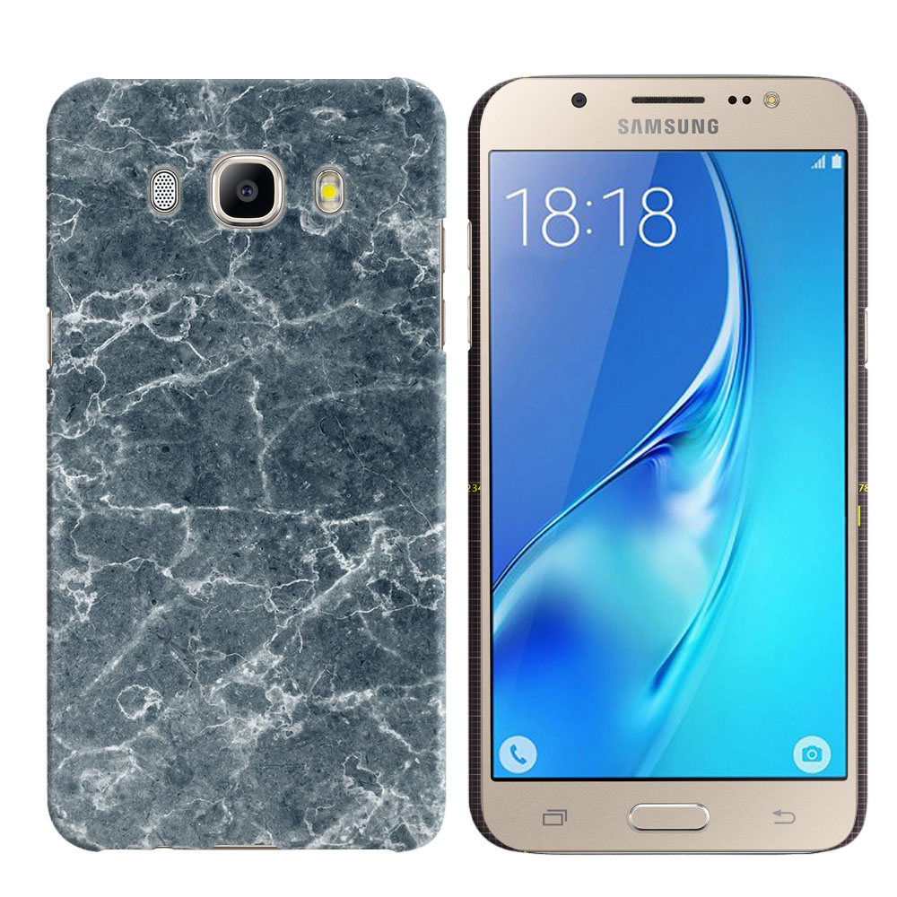 Samsung Galaxy J5 J510 2nd Gen 2016 Blue Stone Marble Back Cover Case