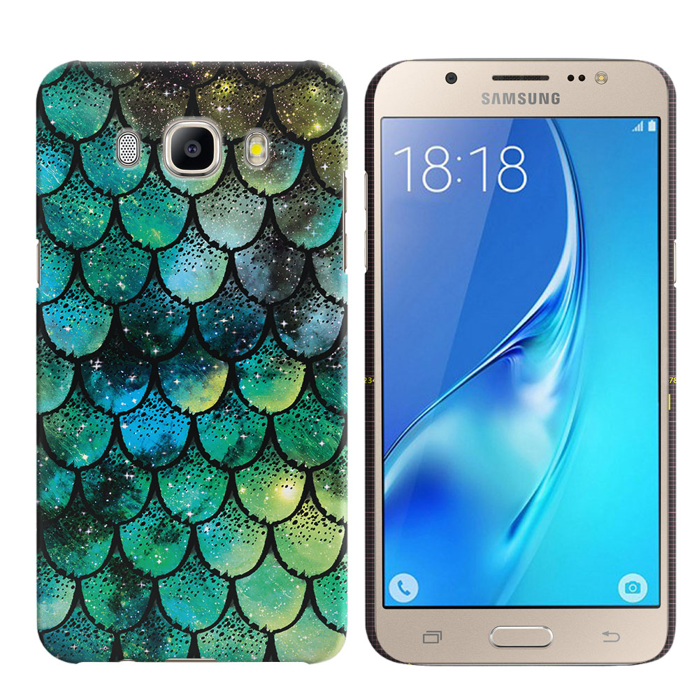 Samsung Galaxy J5 J510 2nd Gen 2016 Green Mermaid Scales Back Cover Case