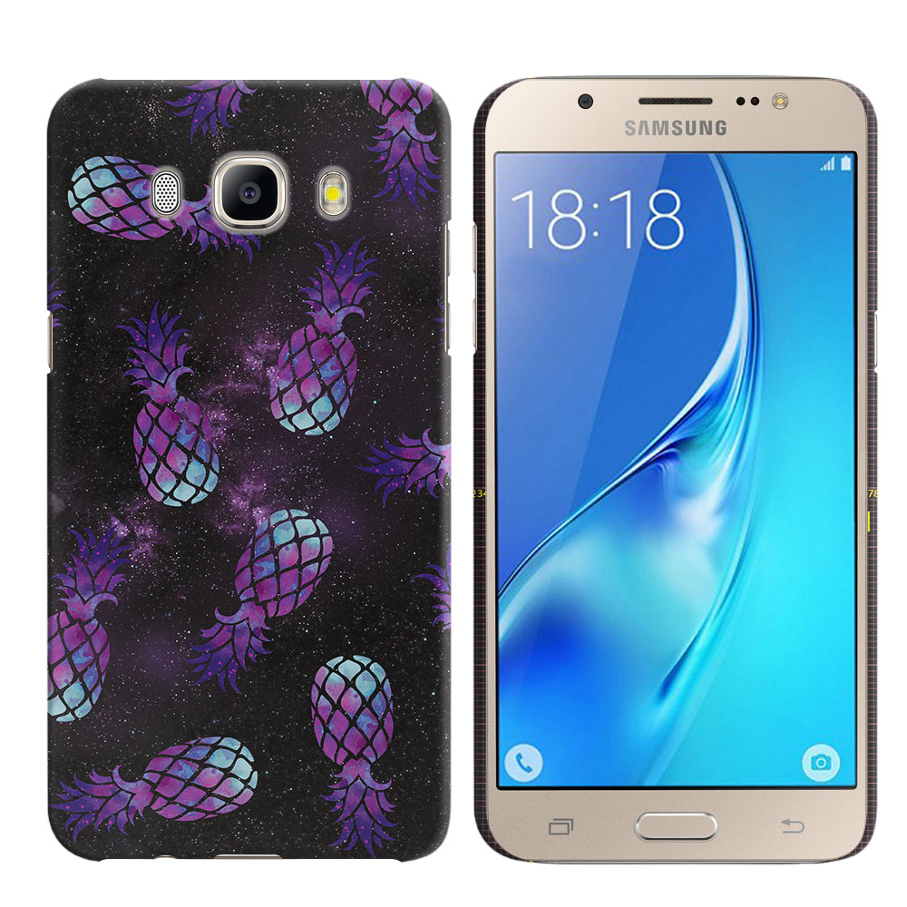 Samsung Galaxy J5 J510 2nd Gen 2016 Purple Pineapples Galaxy Back Cover Case