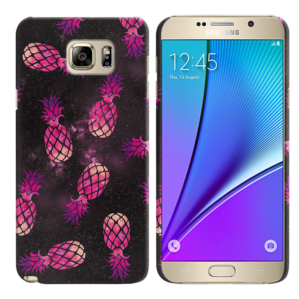 Samsung Galaxy Note 5 N920 Hot Pink Pineapple Pattern In Galaxy Back Cover Case