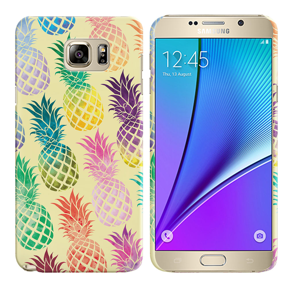 Samsung Galaxy Note 5 N920 Pastel Colorful Pineapple Yellow Pastel Back Cover Case