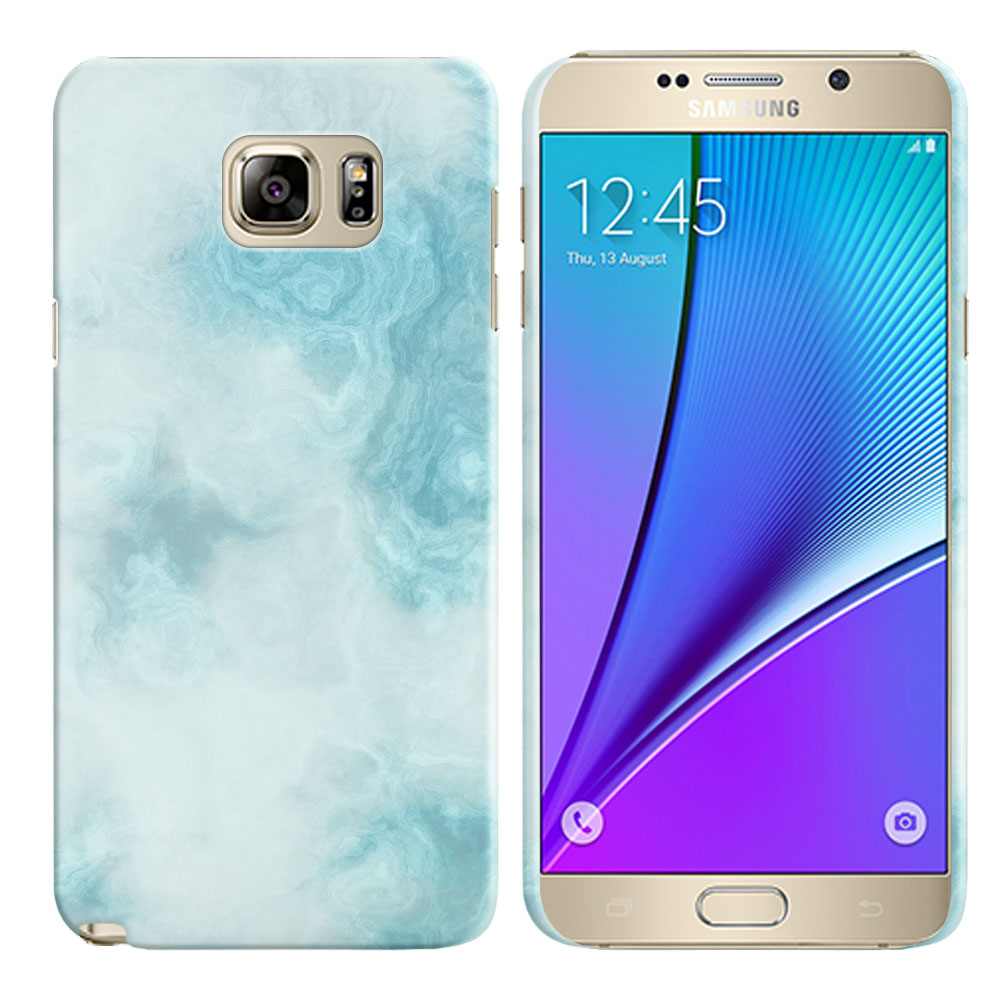 Samsung Galaxy Note 5 N920 Blue Cloudy Marble Back Cover Case