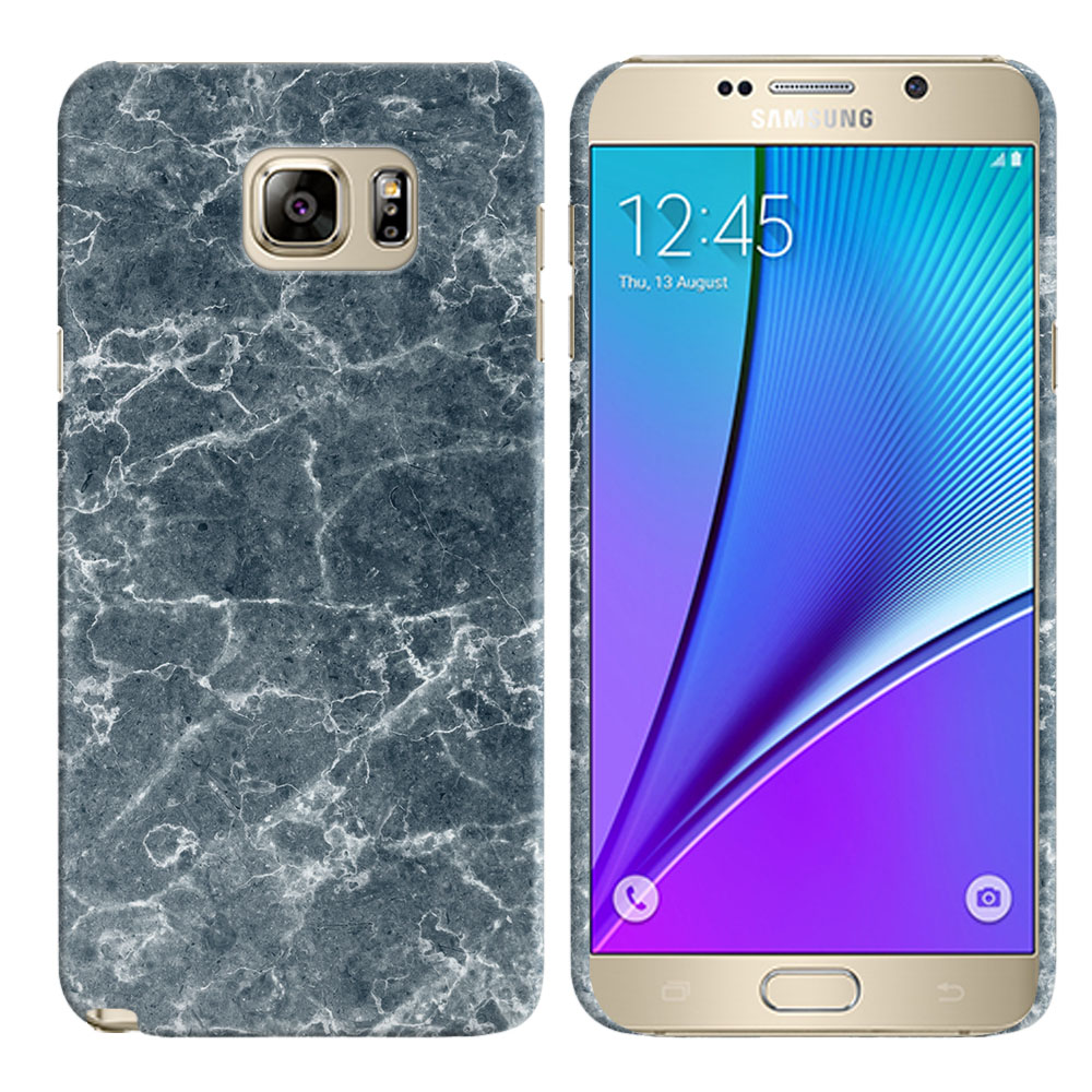 Samsung Galaxy Note 5 N920 Blue Stone Marble Back Cover Case