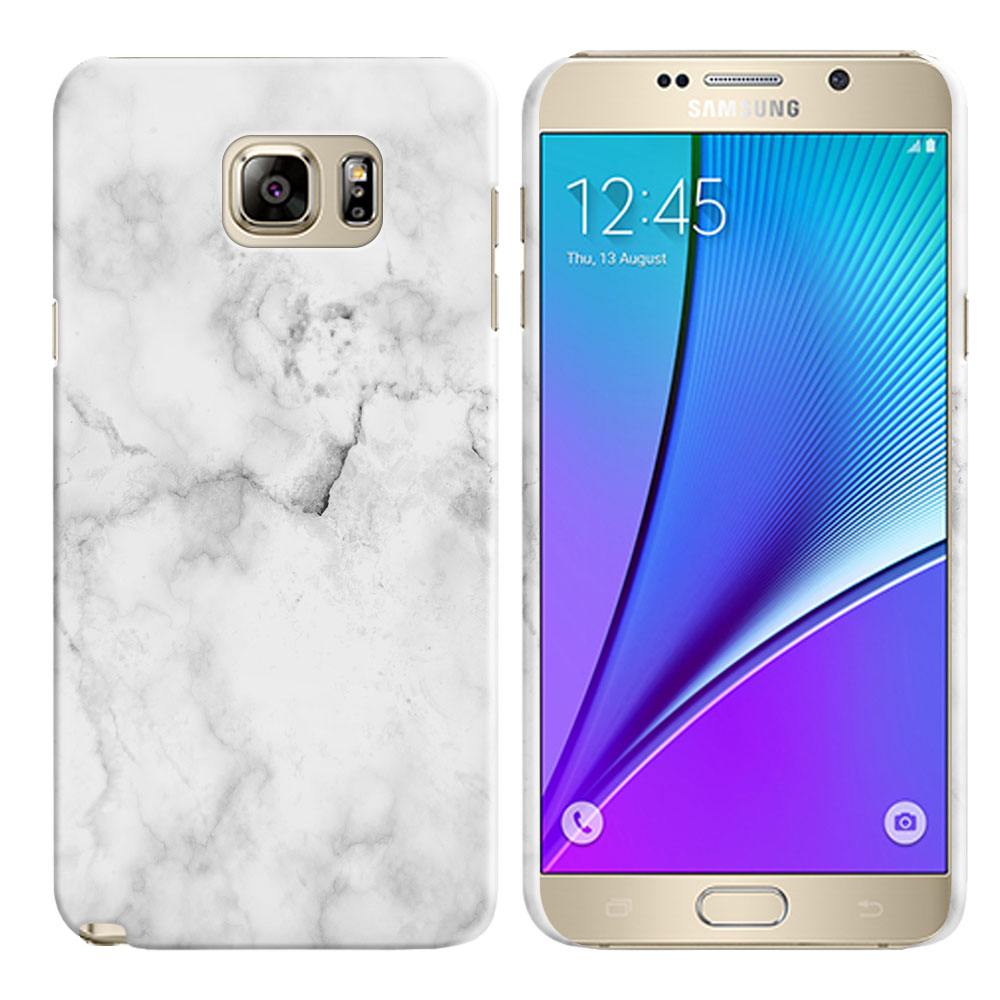 Samsung Galaxy Note 5 N920 Grey Cloudy Marble Back Cover Case