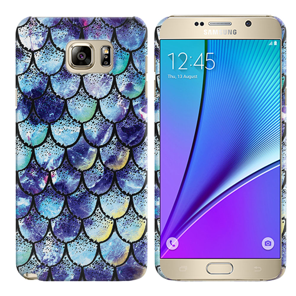 Samsung Galaxy Note 5 N920 Purple Mermaid Scales Back Cover Case
