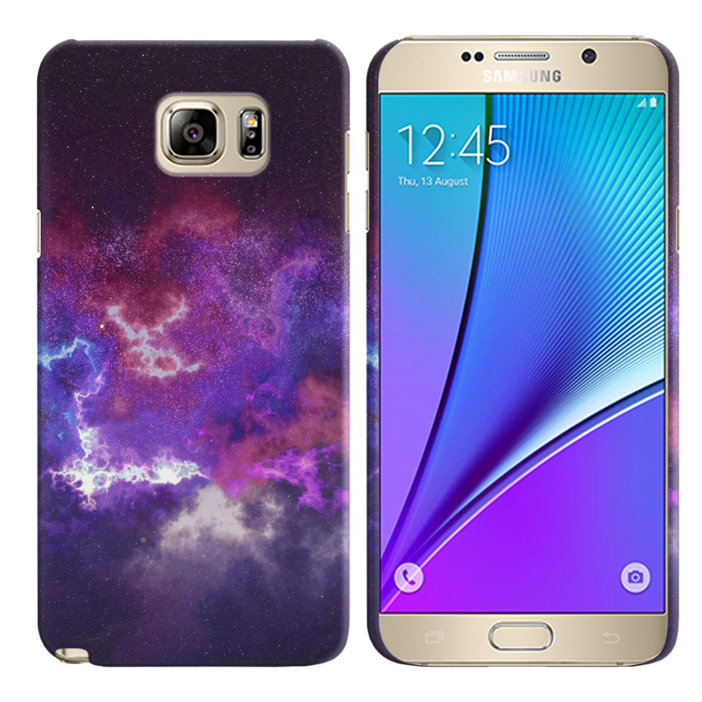 Samsung Galaxy Note 5 N920 Purple Nebula Space Back Cover Case