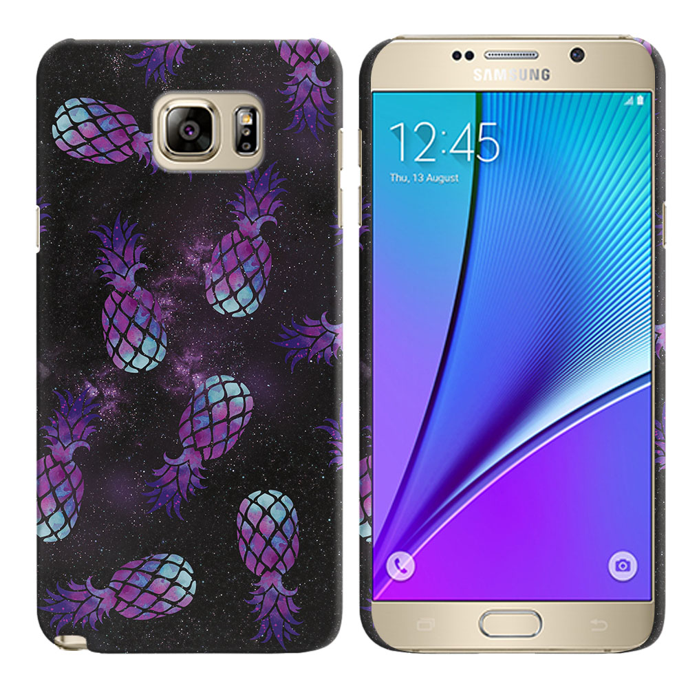 Samsung Galaxy Note 5 N920 Purple Pineapples Galaxy Back Cover Case