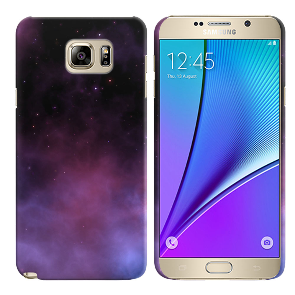 Samsung Galaxy Note 5 N920 Purple Space Stars Back Cover Case