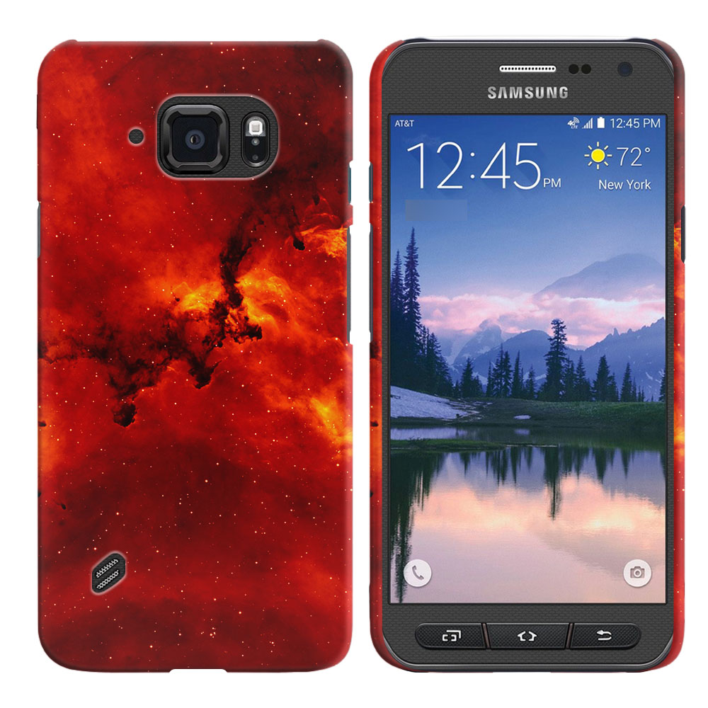 Samsung Galaxy S6 Active G890 Fiery Galaxy Back Cover Case