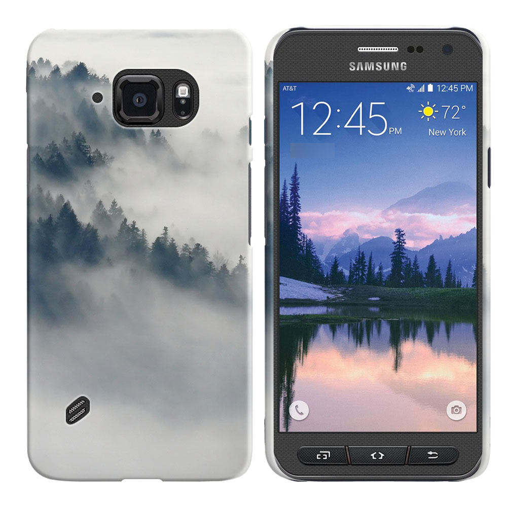 Samsung Galaxy S6 Active G890 Winter Trees Back Cover Case
