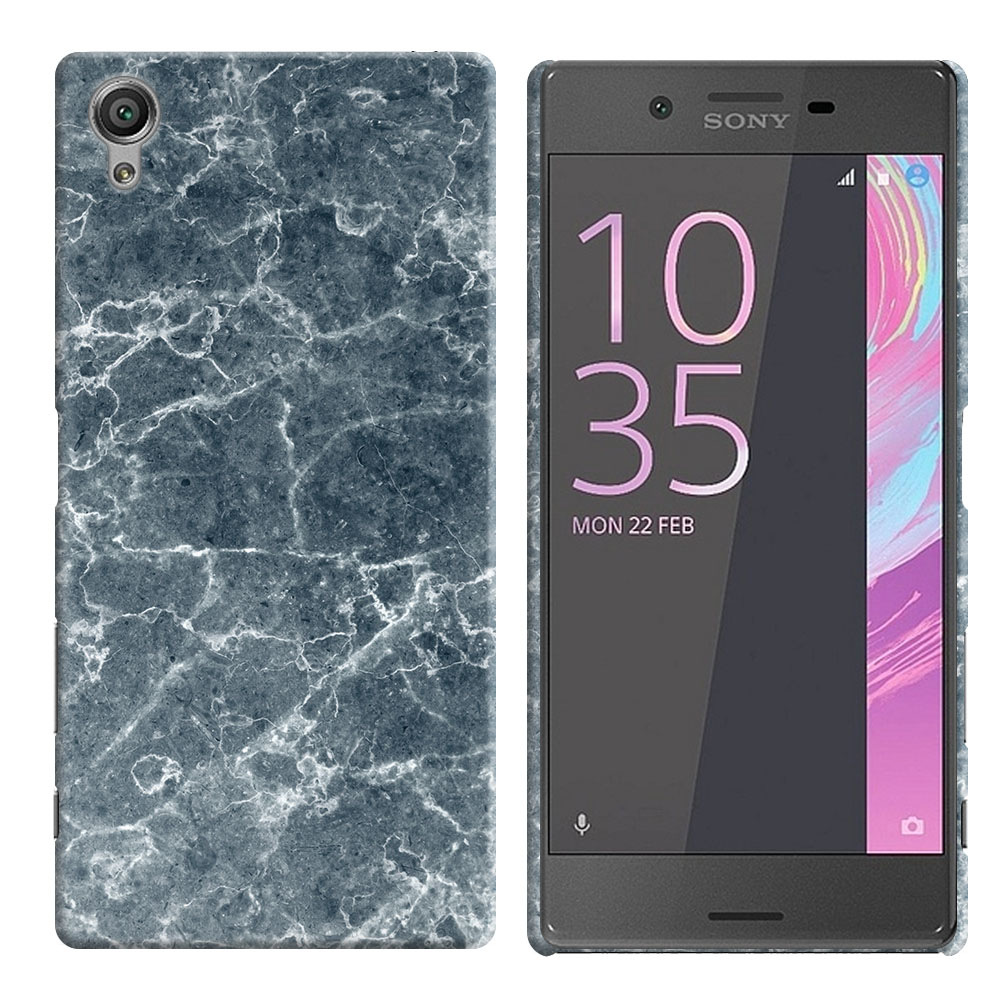 Sony Xperia X Performance F8131 F8132 Blue Stone Marble Back Cover Case