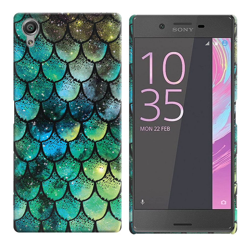 Sony Xperia X Performance F8131 F8132 Green Mermaid Scales Back Cover Case