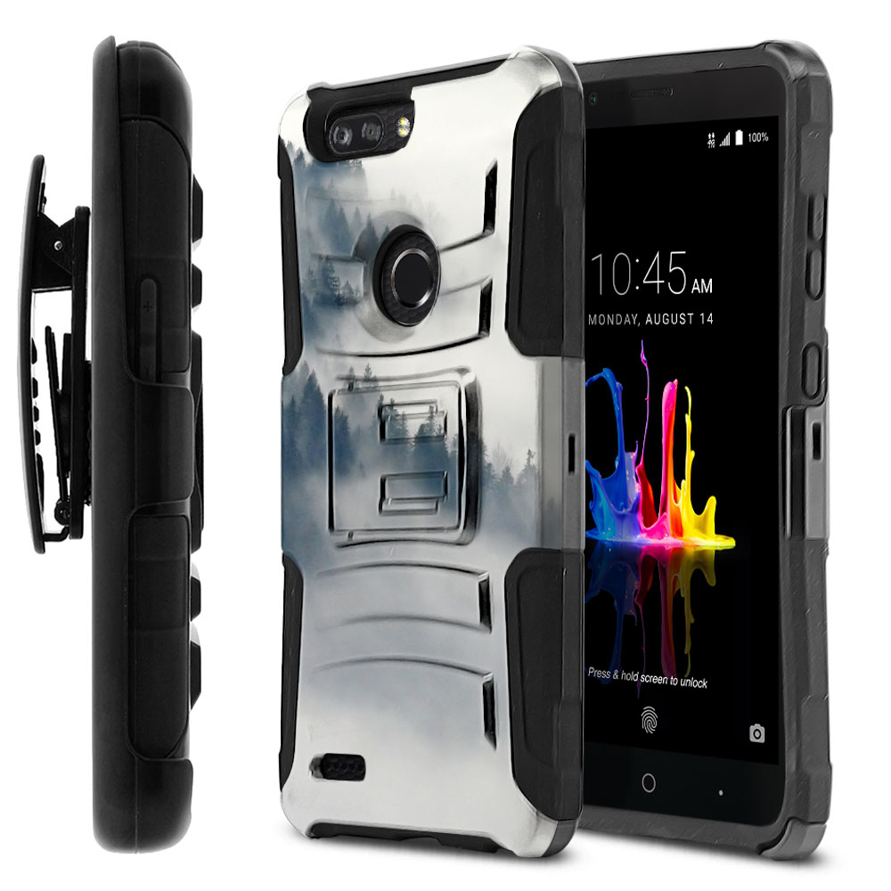 ZTE Blade Z Max Z982/ Sequoia Hybrid Rigid Stand Holster Winter Trees Protector Cover Case
