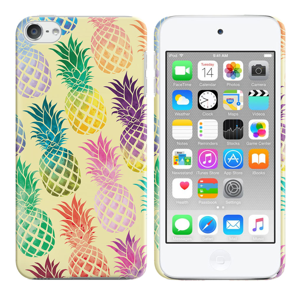 Apple iPod Touch 6 (6th Generation) Pastel Colorful Pineapple Yellow Pastel Back Cover Case