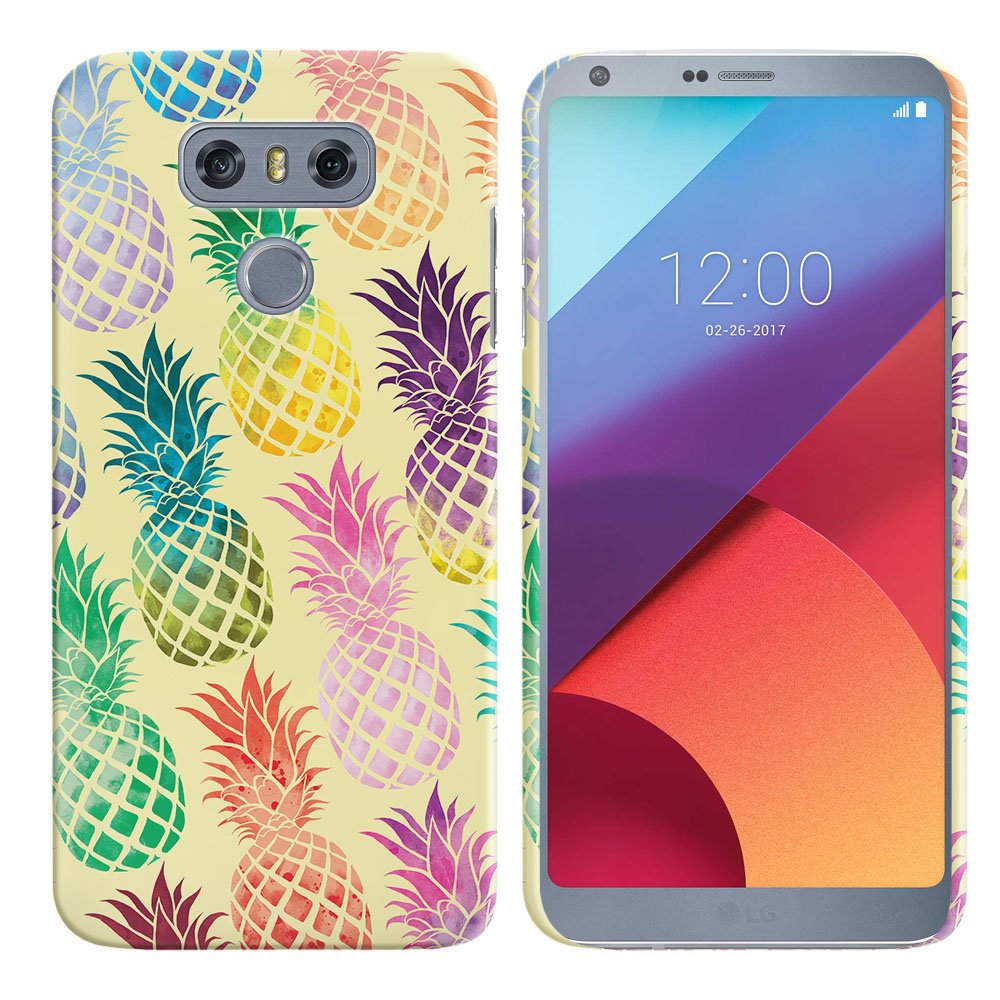 LG G6 H870 Pastel Colorful Pineapple Yellow Pastel Back Cover Case
