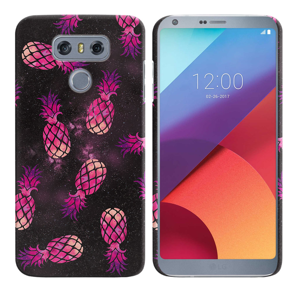 LG G6 H870 Hot Pink Pineapple Pattern In Galaxy Back Cover Case