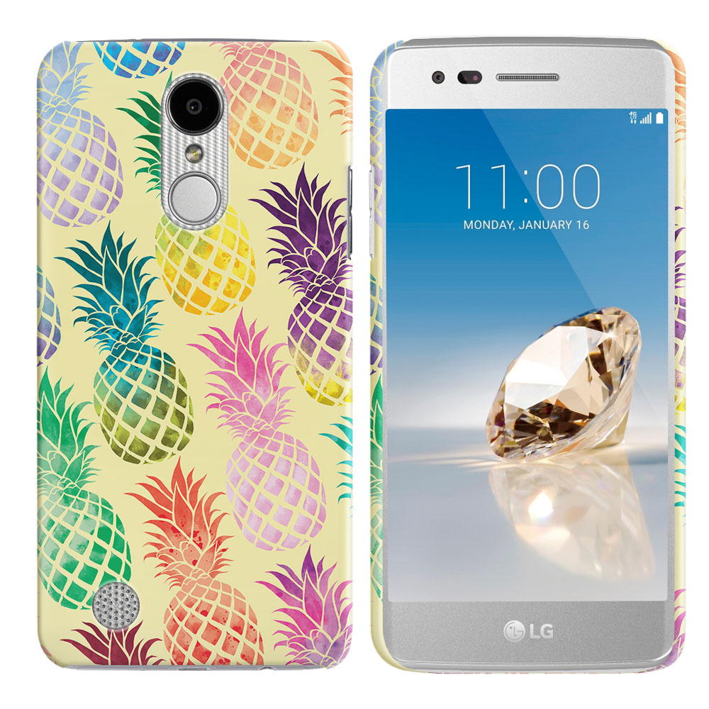 LG Aristo MS210 LV3 K8 (2017)/ Phoenix 3 M150 Pastel Colorful Pineapple Yellow Pastel Back Cover Case